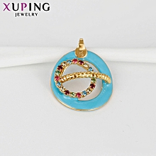 XUPING  Necklace Fashion Ladies 18K Crystal Necklace-Gold