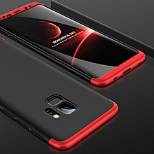 GKK for Galaxy S9 Three Stage Splicing 360 Degree Full Coverage PC Case (Black+Red)