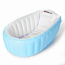 Portable Inflatable Bathtub For Babies Kid Baby Bath Thickening Folding Washbowl Blue