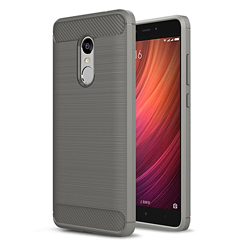 Generic Case For Xiaomi Redmi Note 4 Carbon Fiber Resilient Drop Protection Anti-Scratch Rugged Armor Case Black 184400 (Color:Main Picture)