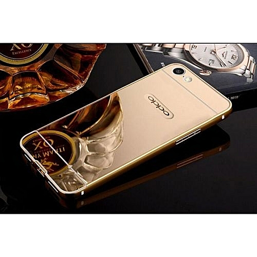 super popular b31f5 2075f Aluminum Mirror Metal Bumper Case Cover For Oppo A57 134253
