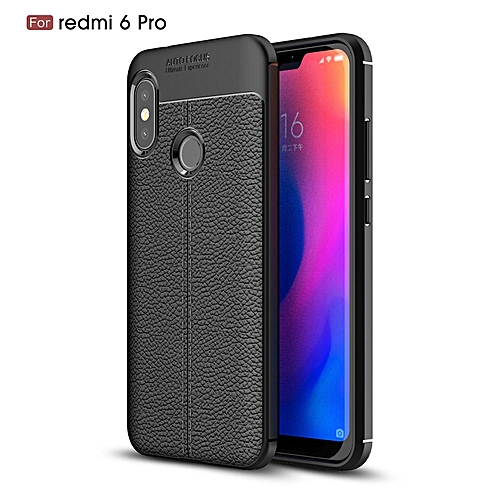 outlet store sale 7f392 f78ec Case For Xiaomi Redmi 6 Pro [Full Body Leather Cover] [Anti-Slip] [Shock  Absorption] Luxury Lightweight & Slim 360 Protective Leather Texture Case  For ...