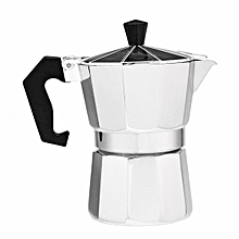 Silver Aluminum Moka Pot Octagonal Coffee Cup Stove Percolator # 50ML