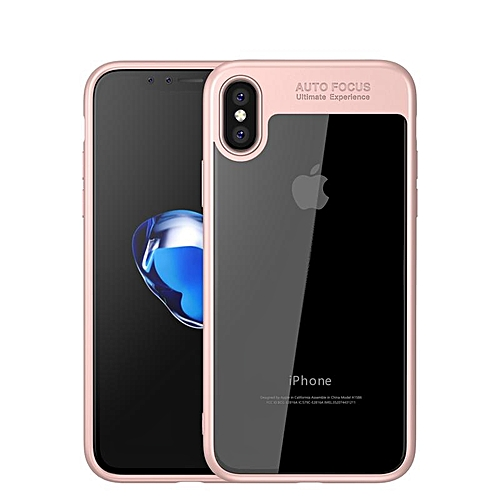new arrival 193b5 48040 colorful TPU silicone + transparent PC iPhone X/iPhone 10 Case Rose Gold
