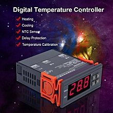 Mini Digital Temperature Controller 220V 10A LCD Display Thermostat For Refrigerators Farms