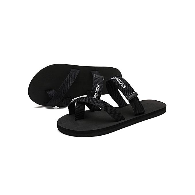337f4b831541 Refined Super Large Size Men s Soft Flip Flops Waterproof Slip Breathable  Slippers beach slippers-black