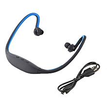 Sport Wireless Bluetooth Handfree Stereo Headset Headphone For iPhone Cellphone Blue