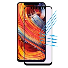 ENKAY Hat-Prince 0.2mm 9H 3D Anti Blue-ray Full Screen Carbon Fiber Tempered Glass Film for Xiaomi Mi 8(Black)