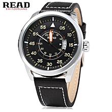 Male Sport Wristwatch Date Display +Water Resistance Watch-SILVER