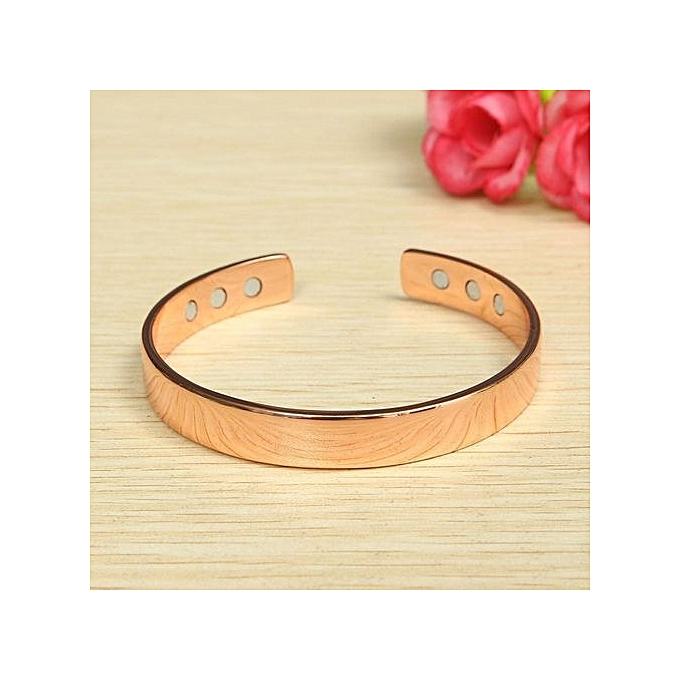 Uni Magnetic Copper Bracelet Healing Bio Therapy Arthritis Pain Relief Bangle Rose Gold