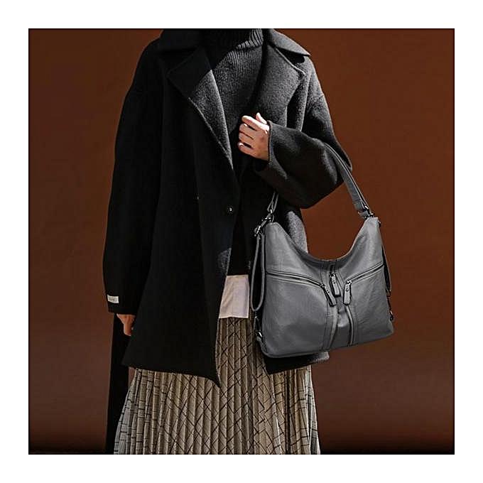 ... Three way women s bag 2017 winter new fashion shoulder diagonal  shoulder bag ladies soft leather large 7d67b710f8
