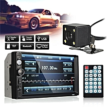 """7"""" Car Stereo MP5 Player Double 2Din In Dash Touch Bluetooth Radio FM Aux+Camera"""