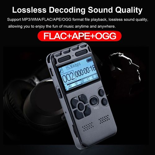 64GB Portable Digital Audio Sound Dictaphon Voice Recorder MP3 Player  Recording