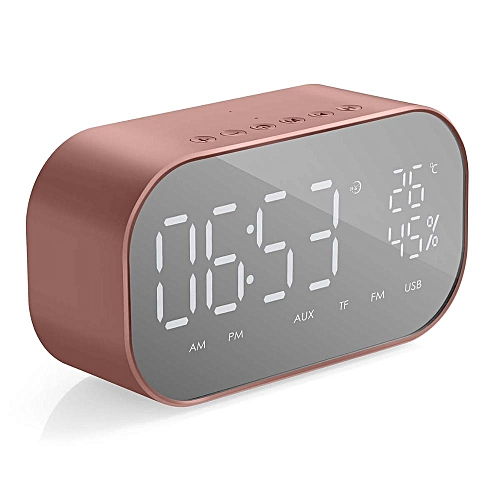 Portable Wireless Bluetooth Speaker Column Subwoofer Music Sound Box  Digital FM Radio Alarm Clock For Laptop Phone DNFCSHOP