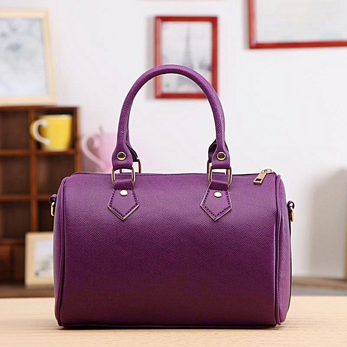 1bd52b34ed09 Xiuxingzi_Women Handbag Shoulder Bag Tote Purse Leather Messenger Hobo Bag  Purpl - Purple
