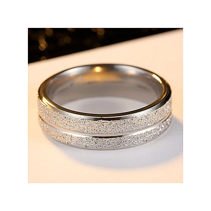 cb19f2d31d733 New Simple Stainless Steel Ring Men Women Titanium White Gold Plated Ring
