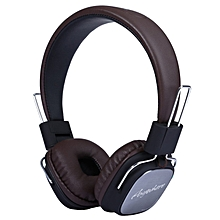 REMAX RM-100H 3.5mm HiFi Headset Stereo Music Noise Reduction Headphone (Brown)