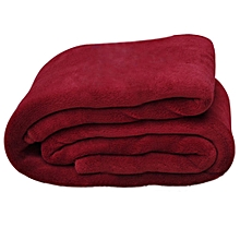 Burgandy Plain Fleece Blanket Throw #160x220cm