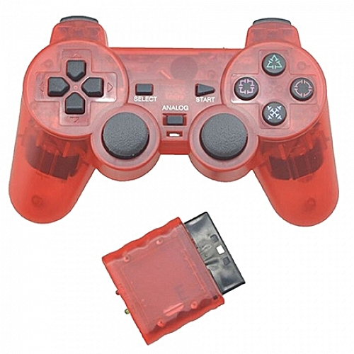 STICK PLAYSTATION 2 WIRELESS PS2 CONTROLLER RED. Wireless Controller Joypad for PS2 Game Console-RED