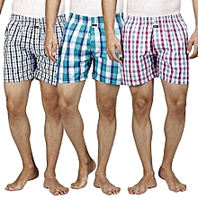 Men's Under Wear Boxer Shorts Pure Cotton - 3pcs (Colors May Vary)