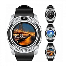 S006  Sports Round Screen Smart Phone Watch - Silver Black