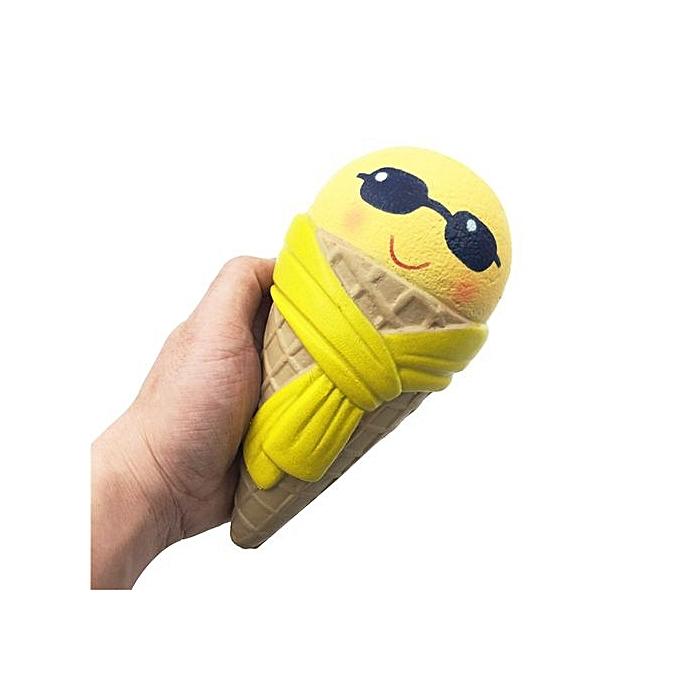 Generic Bluerdream Emoji Ice Cream Squishy Scented Squishy Slow