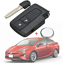 Key Shell Case For TOYOTA PRIUS COROLLA VERSO Remote Fob Blade + CR2032 Battery