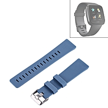 For Fitbit Versa Simple Fashion Silicone Watch Strap(Blue)