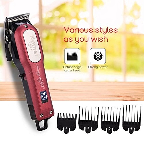 KEMEI Electric Hair Clipper Haircut Kit Sharp Blade Hair Trimmer  Rechargeable Hair Styling Tools d3adb1fe6c