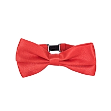 Red Matte Satin Men's Bowtie