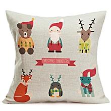 Christmas Cartoon Decoration Festival Pillow Case Cushion Cover