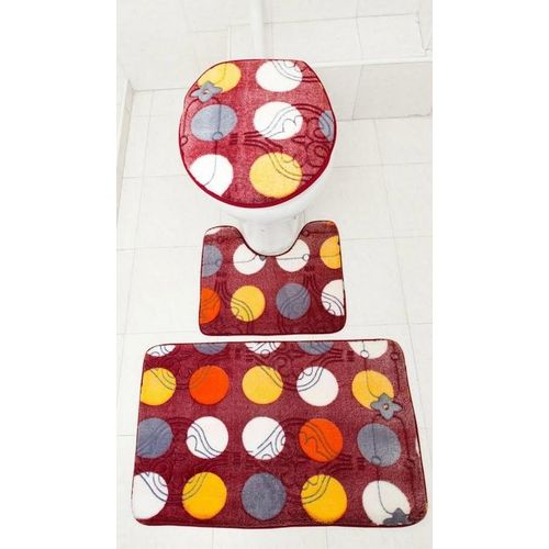 Trovec 3 piece bathroom mat set multicoloured buy for Home decorations on jumia