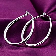Women Stud Dangle Earings Eardrop Small Oval Rhombus Edge Gift For Lady