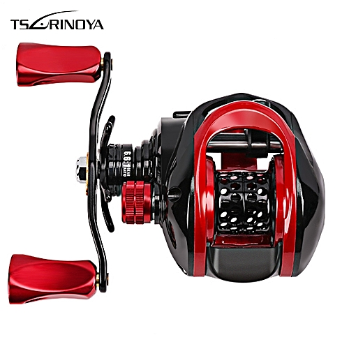 Tsurinoya XF - 50 6 6:1 Metal Shallow Spool Optional 9 + 1BB Water Drop  Wheel Bait Casting Fishing Reel Left Hand