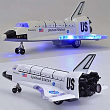 RefinedO Lizard 8 Inch Alloy Force Control Space Shuttle Model with Light & Sound Toy Plane Gift for Children
