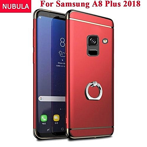 new product c0dbf 5549f Phone Case For Samsung Galaxy A8 Plus 2018 A8+ 2018 for Samsung Galaxy A7  2018 3 In 1 Hard PC Protective Back Cover Case Anti Falling Phone Cover ...