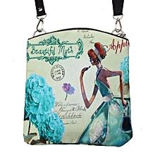 Women Shoulder Messenger Vintage Canvas Crossbody Satchel Handbag Blue