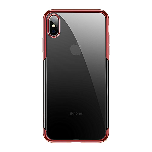 low priced 03b46 4b018 Baseus Fashion Glitter Electroplating Frame PC Case for iPhone XS Max(Red)