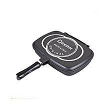 36CM Double Grill Non-stick Pressure Pan - Black