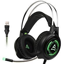 Supsoo G815 USB Wired Gaming On-ear Headset Headphone with Microphone Line Control