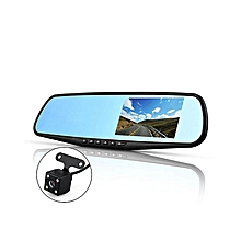 4.3'' FHD Dual Lens Video Recorder Dash Cam Car DVR Rear View Mirror Camera SD