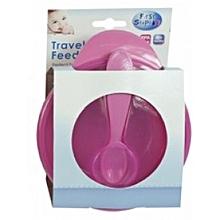 Travel Feeding Bowl with Lid & Spoon