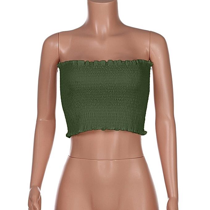 89426bb4a8 Hiamok Women Strapless Elastic Boob Bandeau Tube Tops Bra Lingerie Breast  Wrap