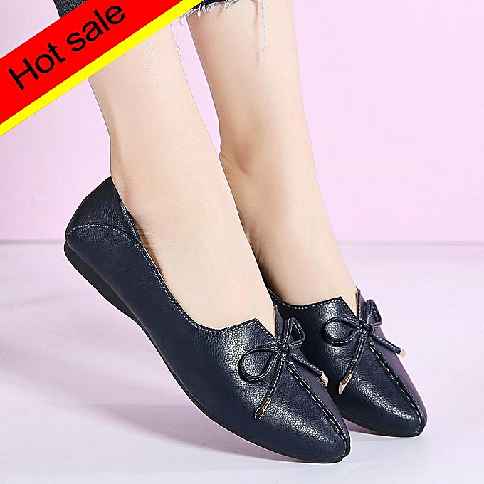 479a265f09d Womens Shoes Pointed Toe New 2019 Spring/Autumn Casual Loafer Women Shallow  Ladies Butterfly-knot Elegant Comfort Ladies Shoes