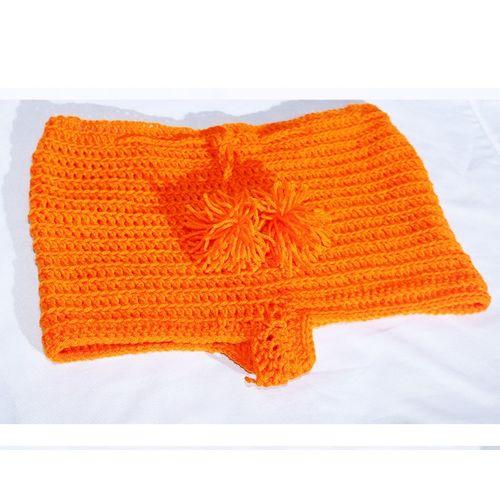 Women High Waisted Crotchet Short Fashionable Shorts - Orange