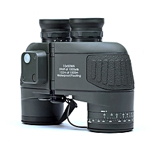 10x50 Waterproof HD Binoculars with Rangefinder Compass