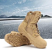 New Army Tactical Desert Mens Leather Combat Boots Military Shoes Soldier Sand