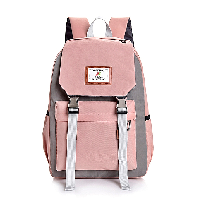 412cf2de031e whiskyky store Women Large-capacity Couple Schoolbag Travel Hiking Color  Block Backpack
