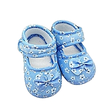bluerdream-Kids Baby Bowknot Printing Newborn Cloth Shoes SB 11- Sky Blue