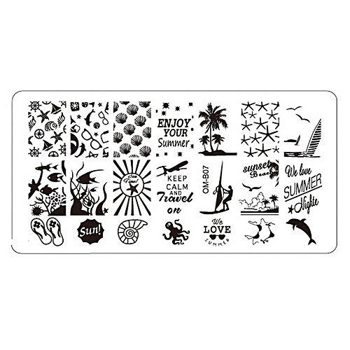 Buy Zlime 1Pc Nail Art Image Stamping Plates Manicure Stamp Template ...